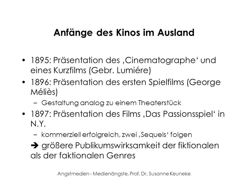 Anfänge des Kinos im Ausland