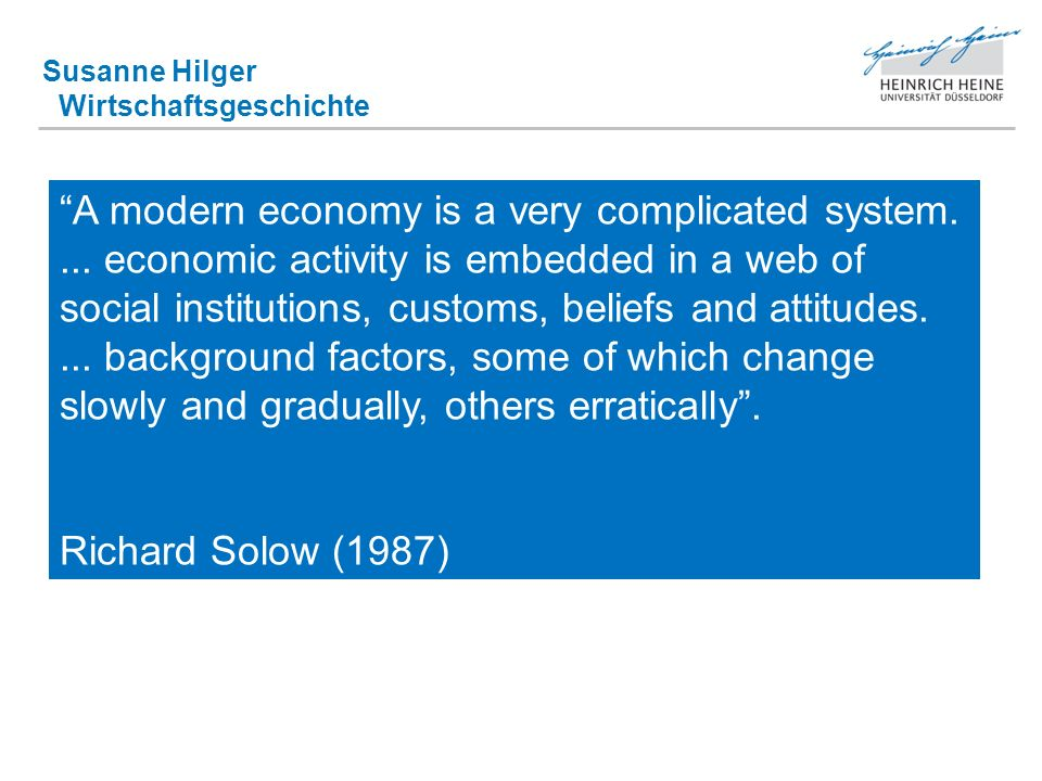 Susanne Hilger Wirtschaftsgeschichte