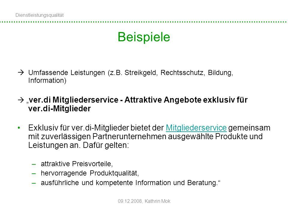 Beispiele Umfassende Leistungen (z.B. Streikgeld, Rechtsschutz, Bildung, Information)