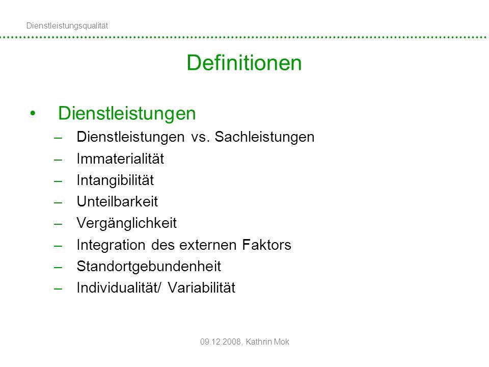Definitionen Dienstleistungen Dienstleistungen vs. Sachleistungen