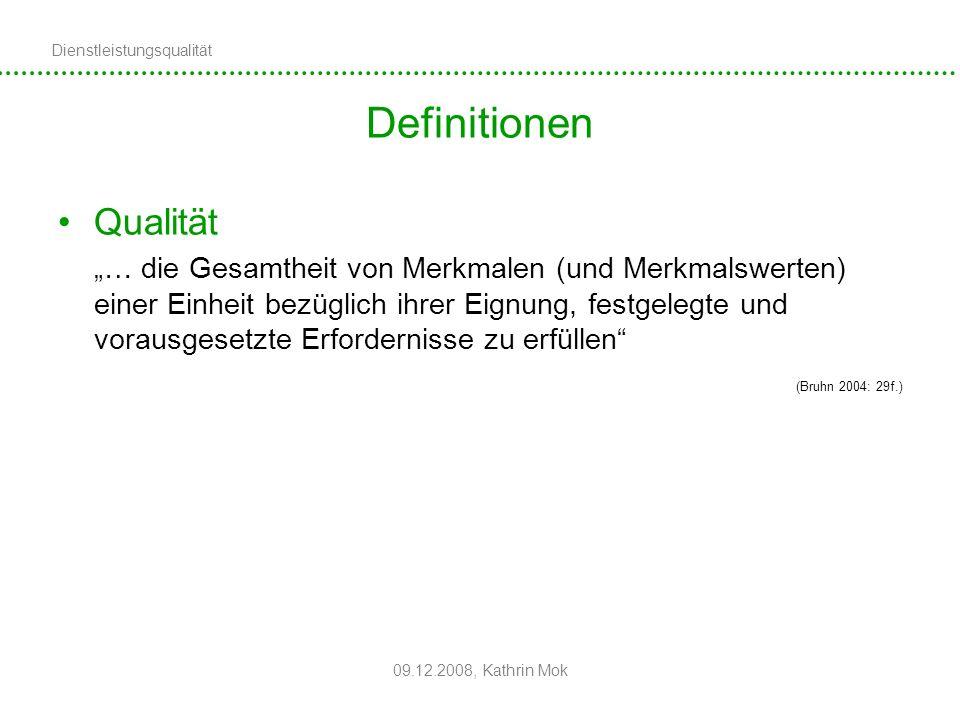 Definitionen Qualität