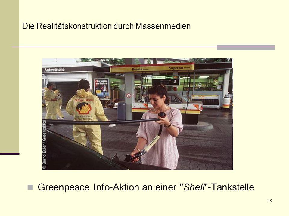 Greenpeace Info-Aktion an einer Shell -Tankstelle