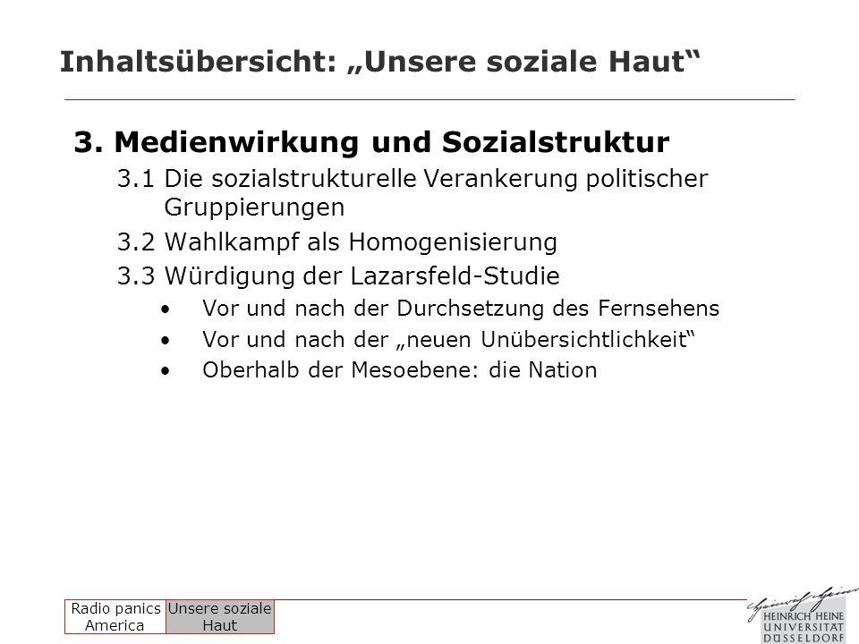 """Inhaltsübersicht: """"Unsere soziale Haut"""