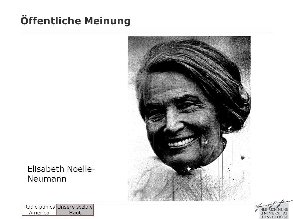 Öffentliche Meinung Elisabeth Noelle-Neumann