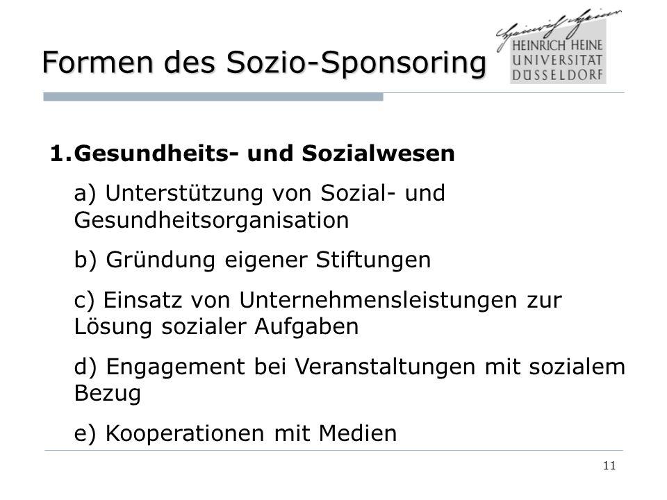 Formen des Sozio-Sponsoring