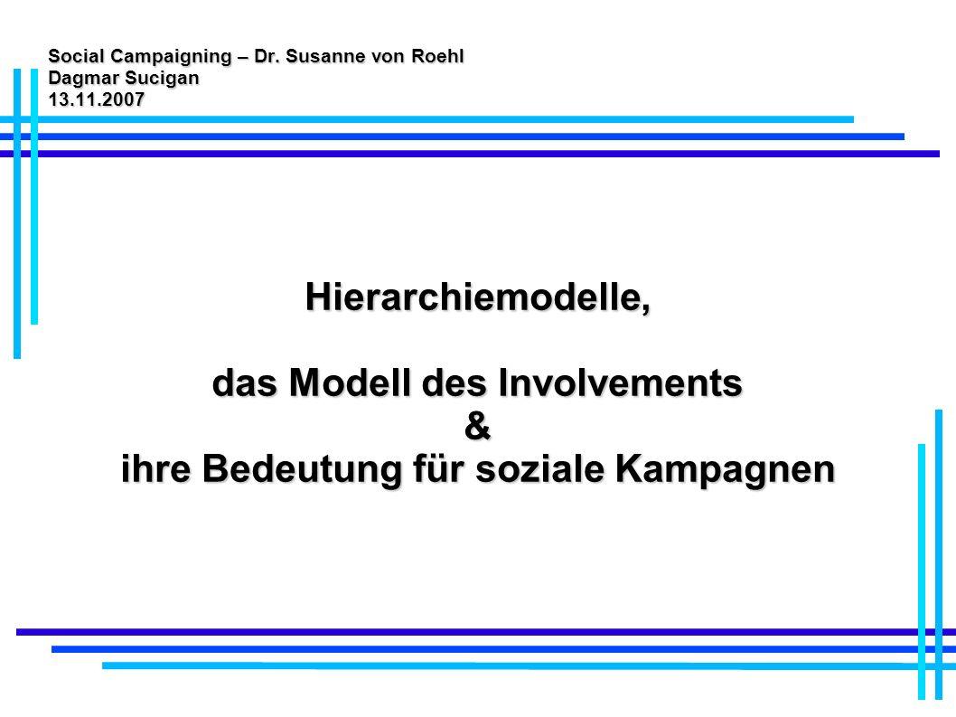 Social Campaigning – Dr. Susanne von Roehl Dagmar Sucigan 13.11.2007