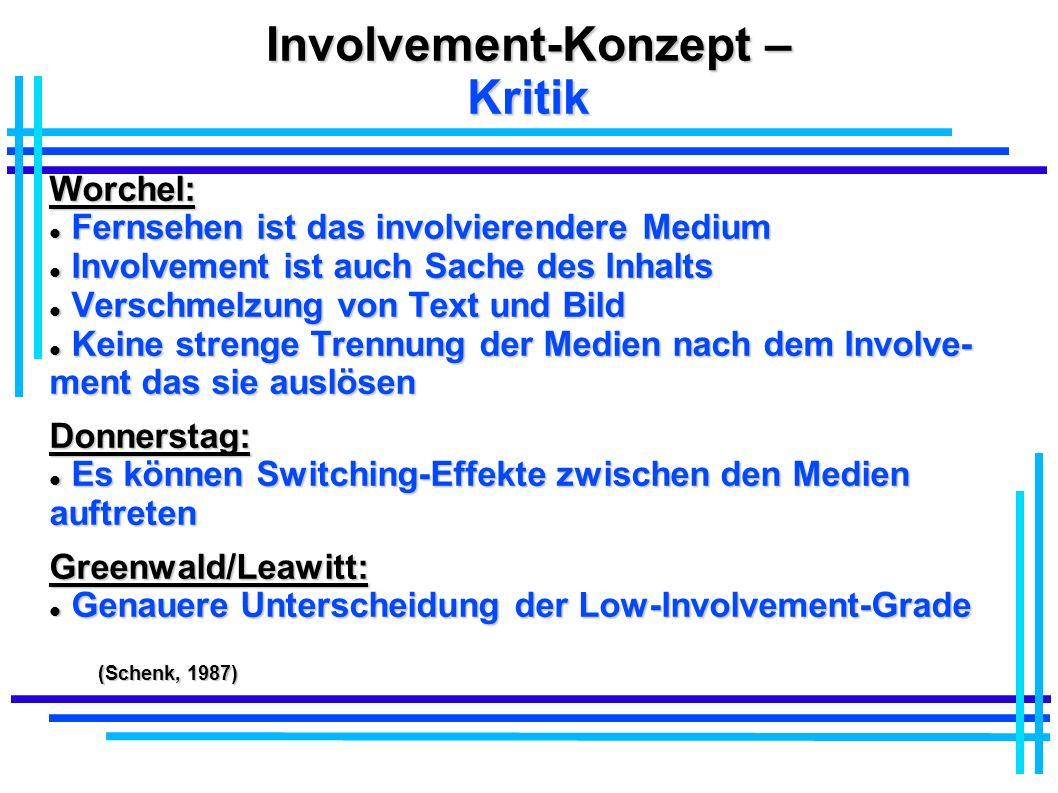 Involvement-Konzept – Kritik