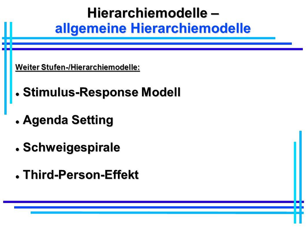 Hierarchiemodelle – allgemeine Hierarchiemodelle