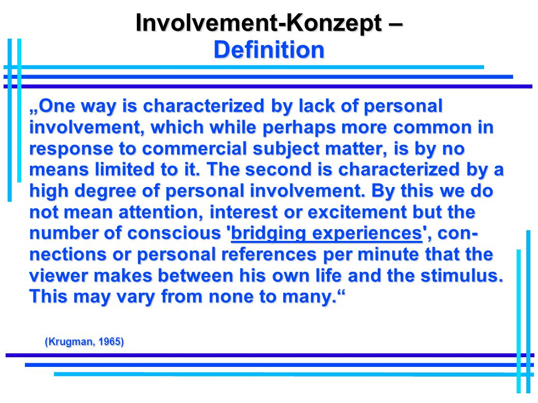 Involvement-Konzept – Definition