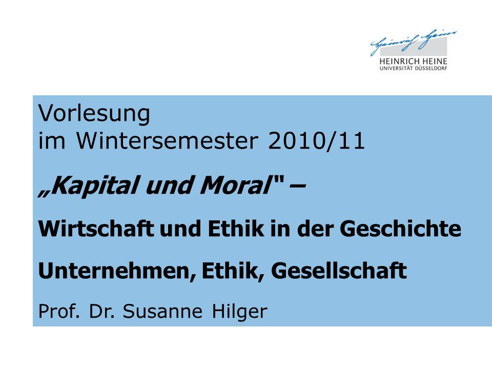 """""""Kapital und Moral – Vorlesung im Wintersemester 2010/11"""