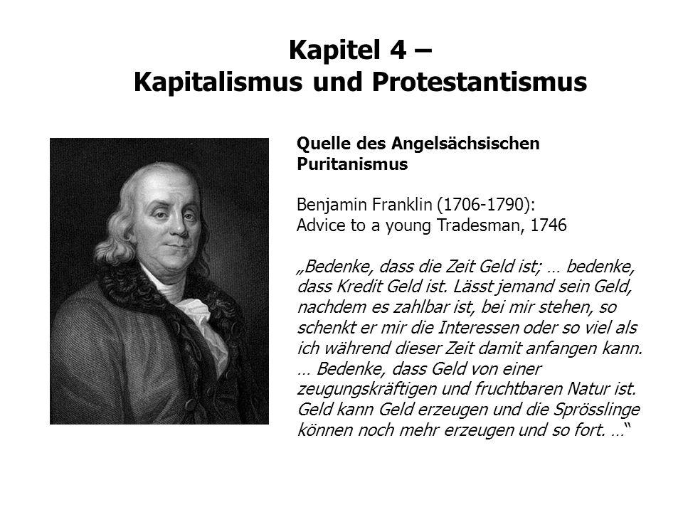Kapitel 4 – Kapitalismus und Protestantismus
