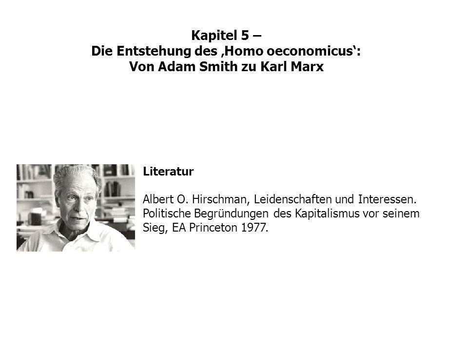 Kapitel 5 – Die Entstehung des 'Homo oeconomicus': Von Adam Smith zu Karl Marx