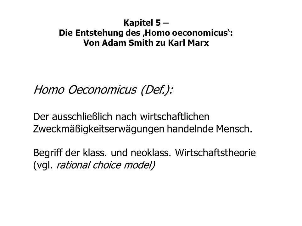Homo Oeconomicus (Def.):