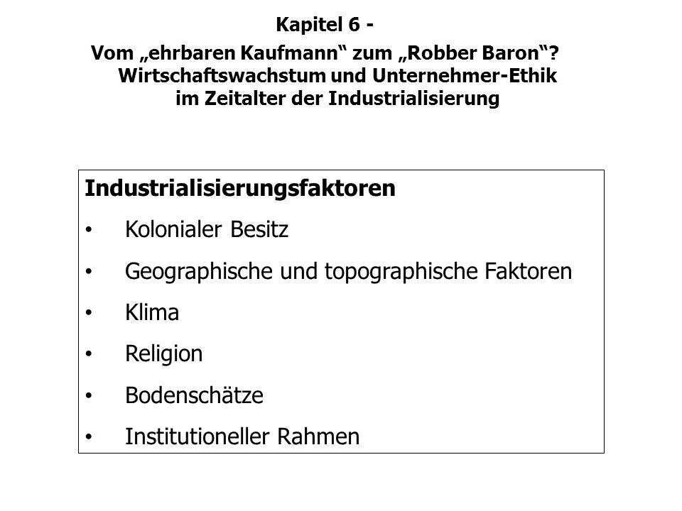 Industrialisierungsfaktoren Kolonialer Besitz