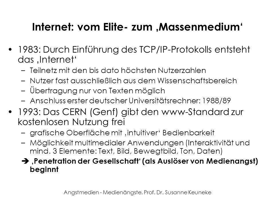 Internet: vom Elite- zum 'Massenmedium'