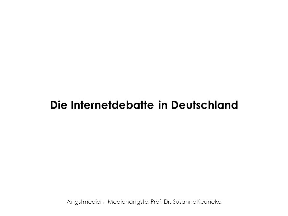 Die Internetdebatte in Deutschland