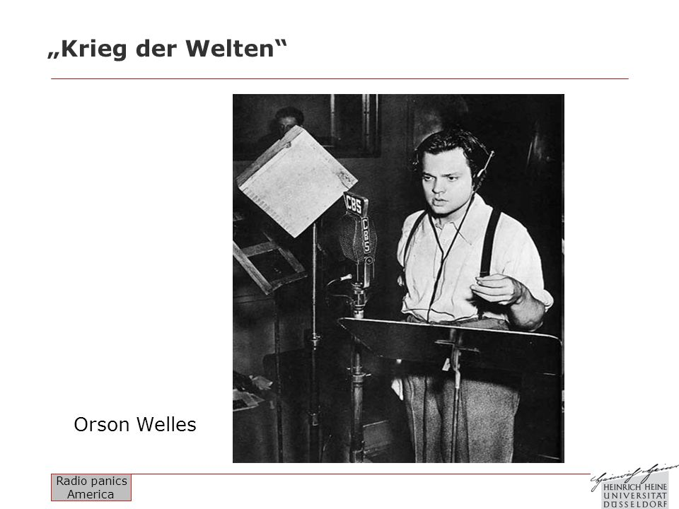 """""""Krieg der Welten Orson Welles"""