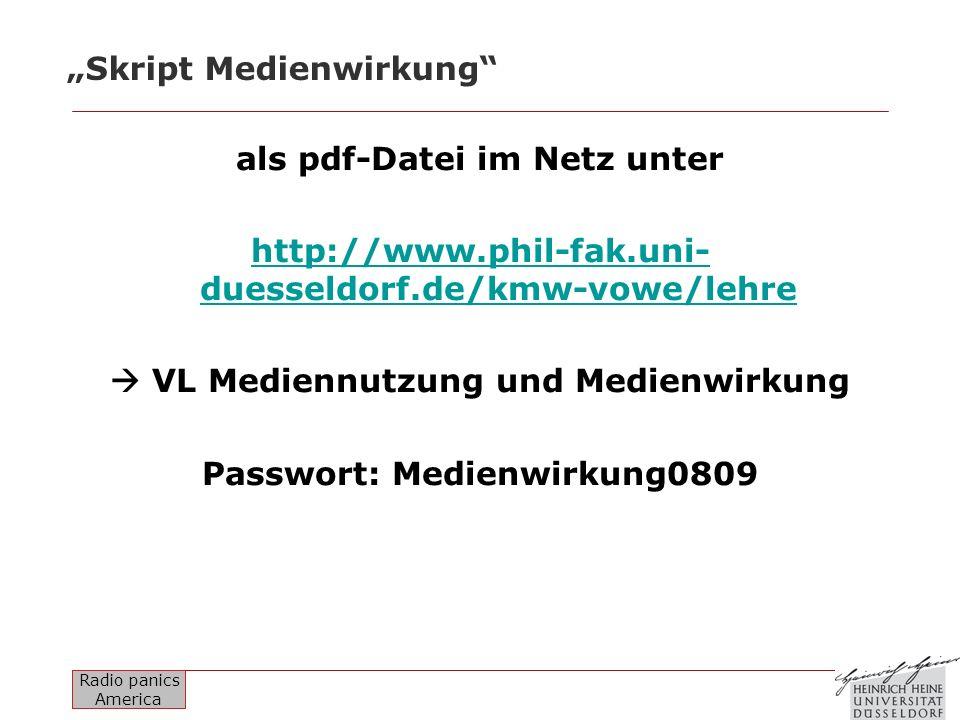 """""""Skript Medienwirkung"""