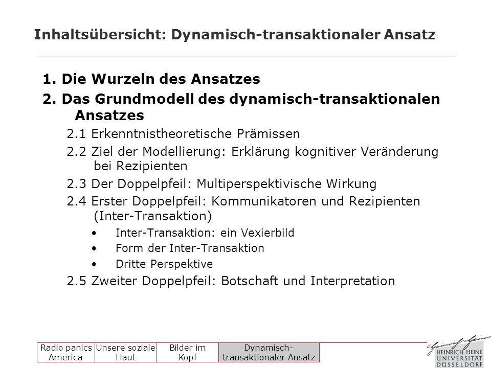 Inhaltsübersicht: Dynamisch-transaktionaler Ansatz