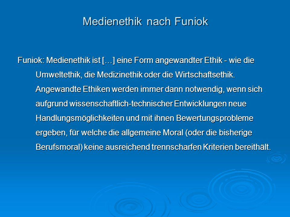 Medienethik nach Funiok