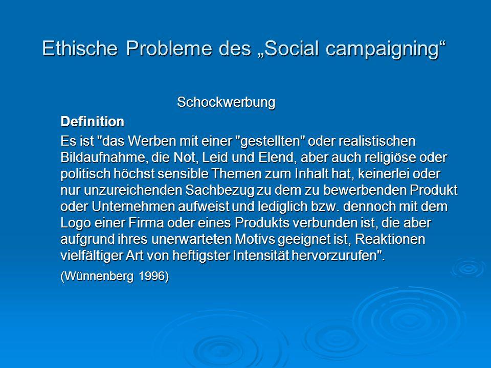 """Ethische Probleme des """"Social campaigning"""