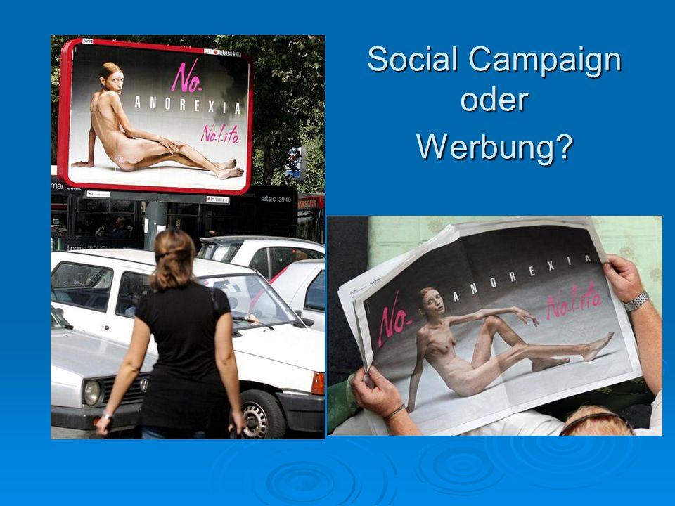 Social Campaign oder Werbung
