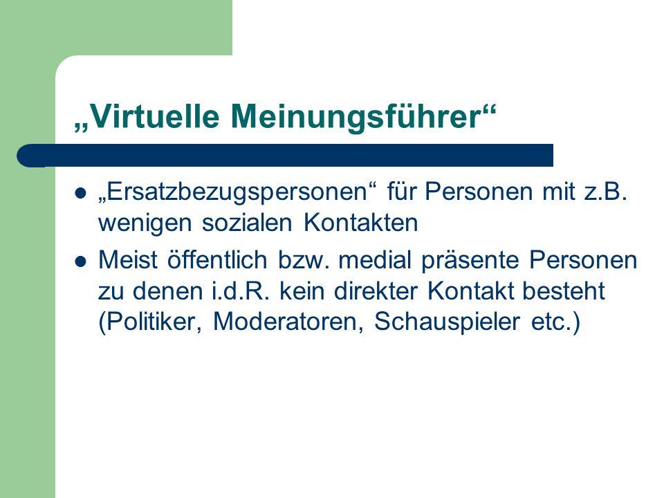 """""""Virtuelle Meinungsführer"""