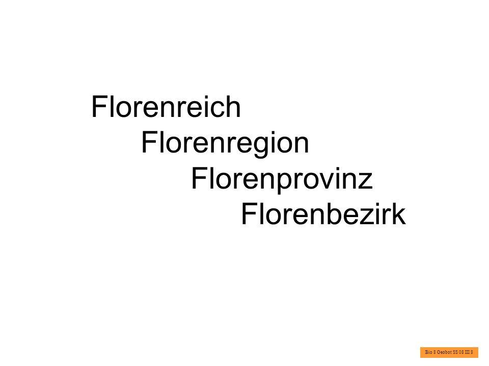 Florenreich Florenregion Florenprovinz Florenbezirk