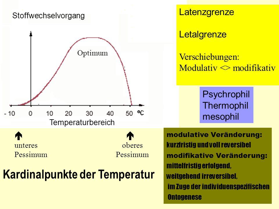 Kardinalpunkte der Temperatur