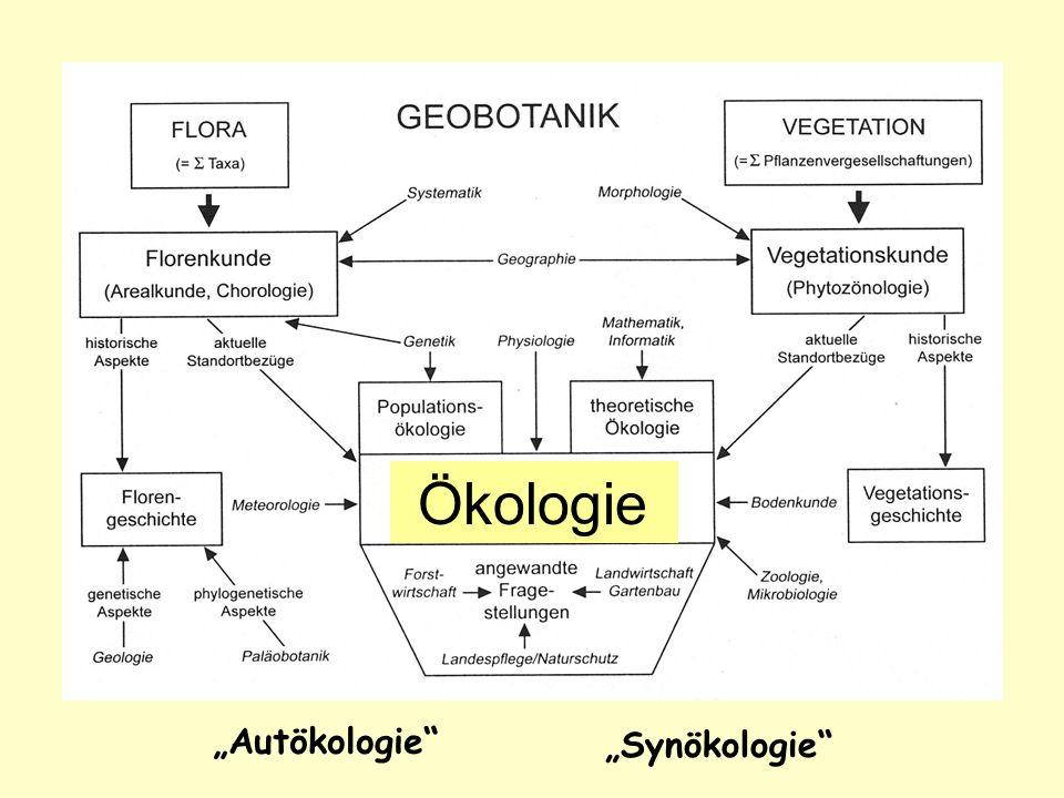"""Ökologie """"Autökologie """"Synökologie"""