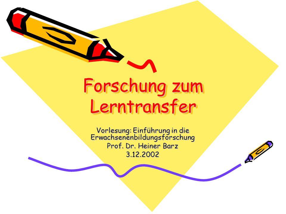 Forschung zum Lerntransfer