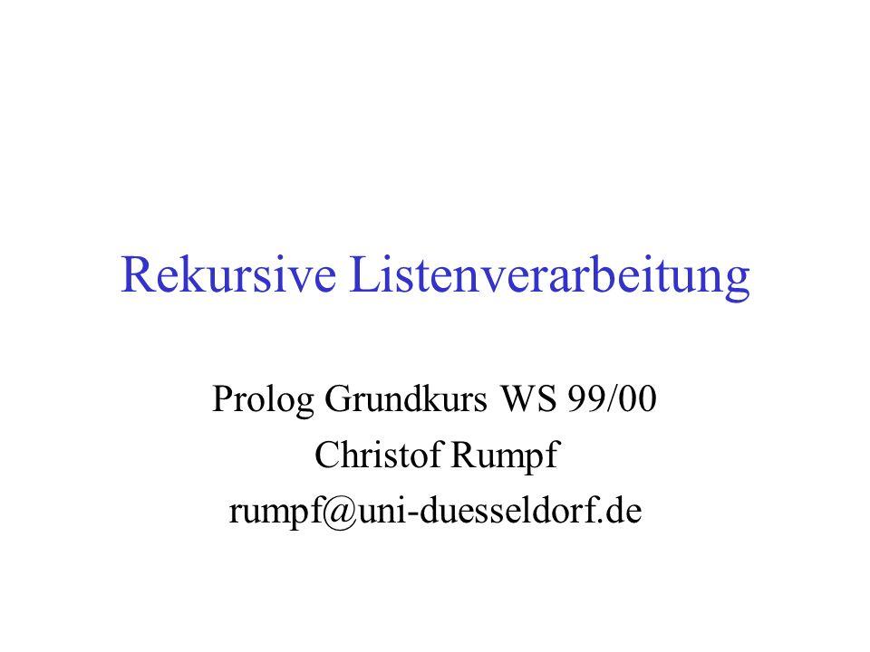 Rekursive Listenverarbeitung