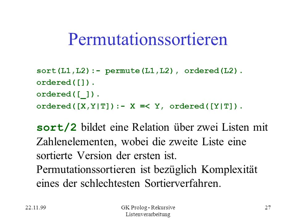 Permutationssortieren