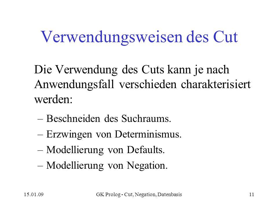 Verwendungsweisen des Cut