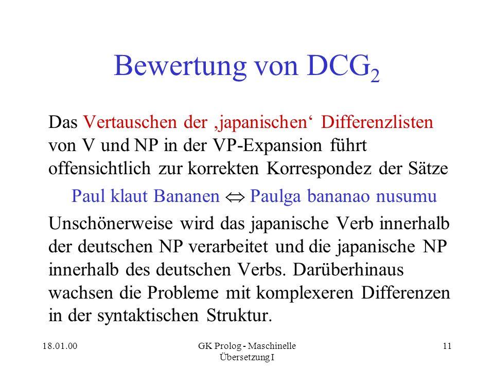 Bewertung von DCG2