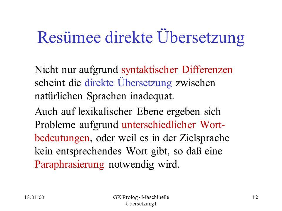 Resümee direkte Übersetzung
