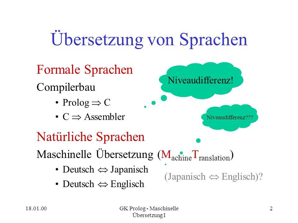 Übersetzung von Sprachen