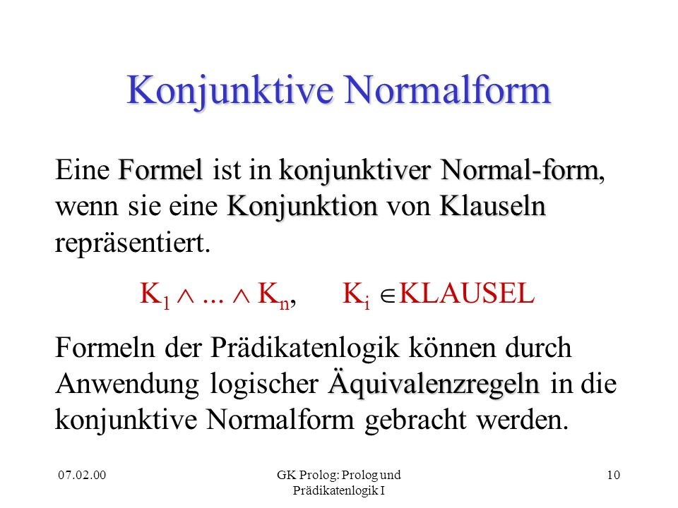 Konjunktive Normalform