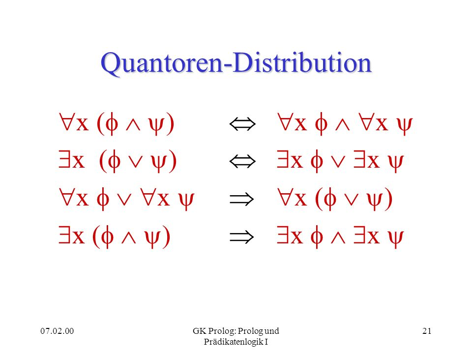 Quantoren-Distribution