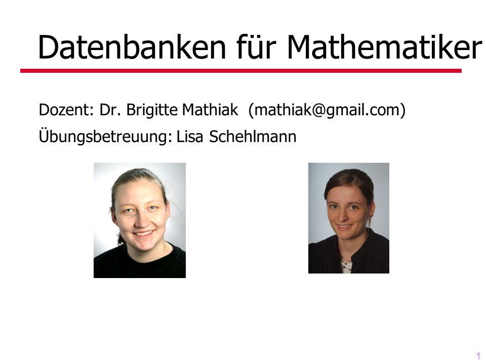 Datenbanken für Mathematiker