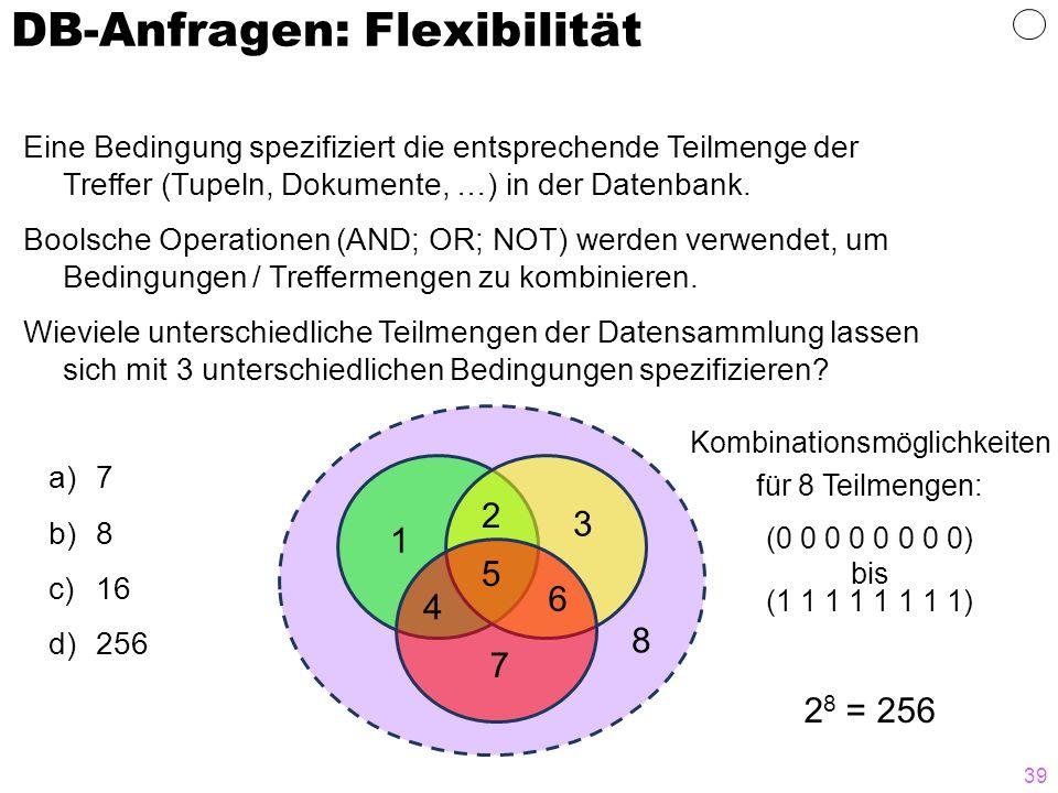 DB-Anfragen: Flexibilität