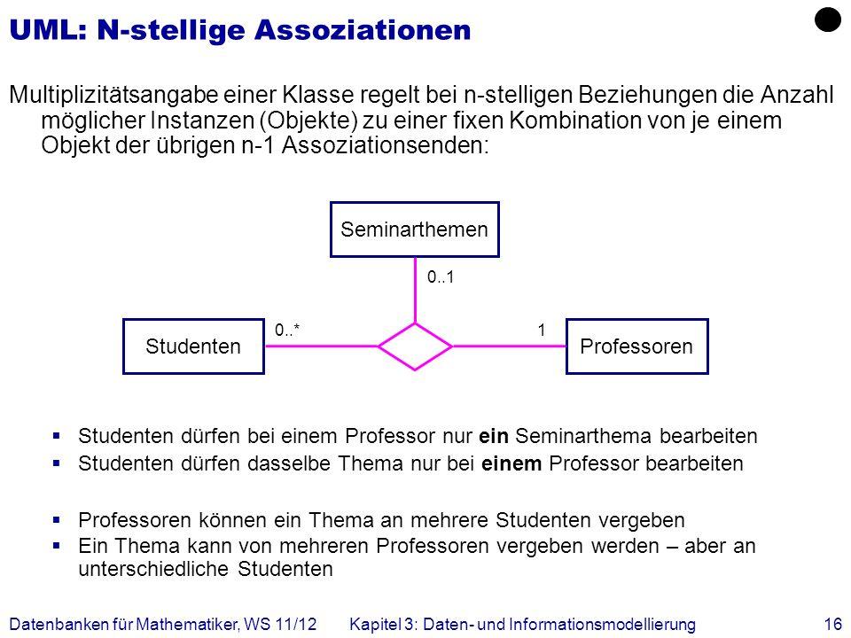 UML: N-stellige Assoziationen