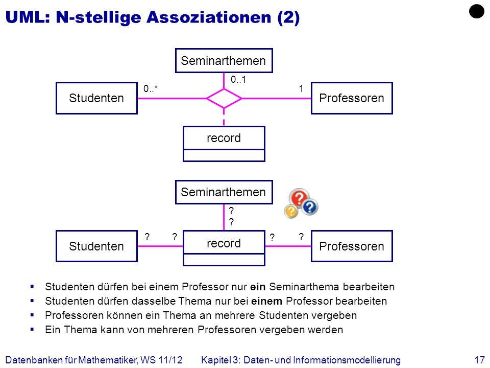 UML: N-stellige Assoziationen (2)