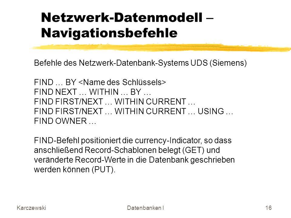 Netzwerk-Datenmodell – Navigationsbefehle