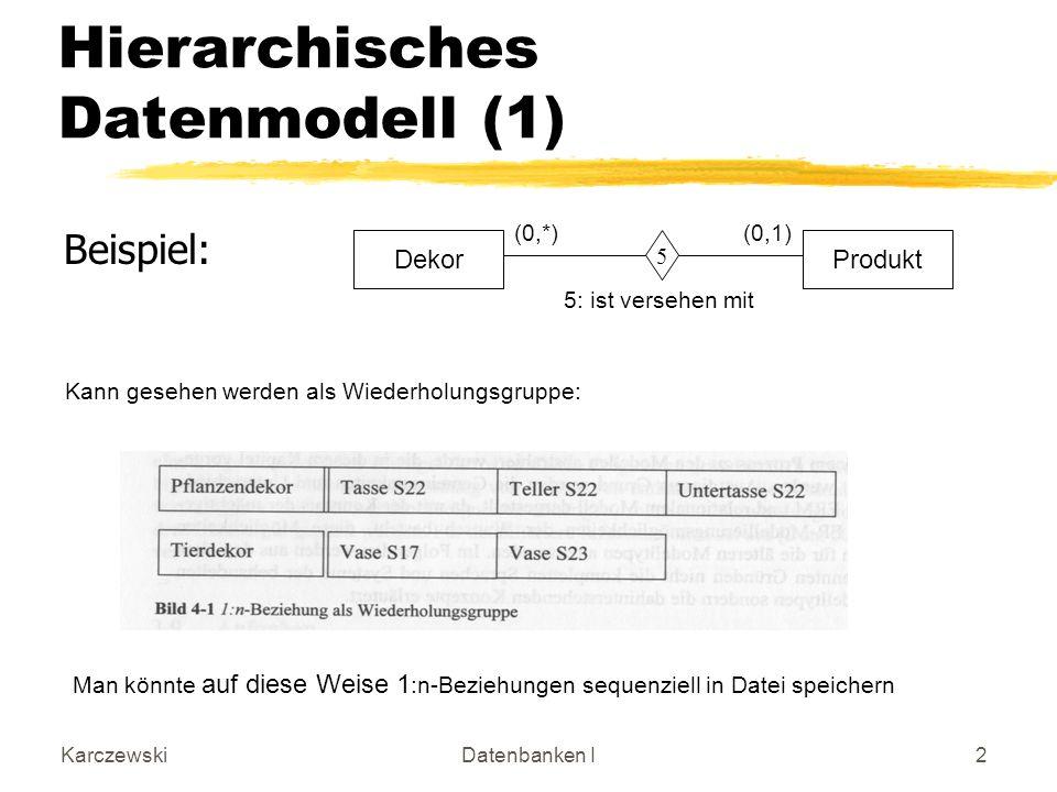 Hierarchisches Datenmodell (1)