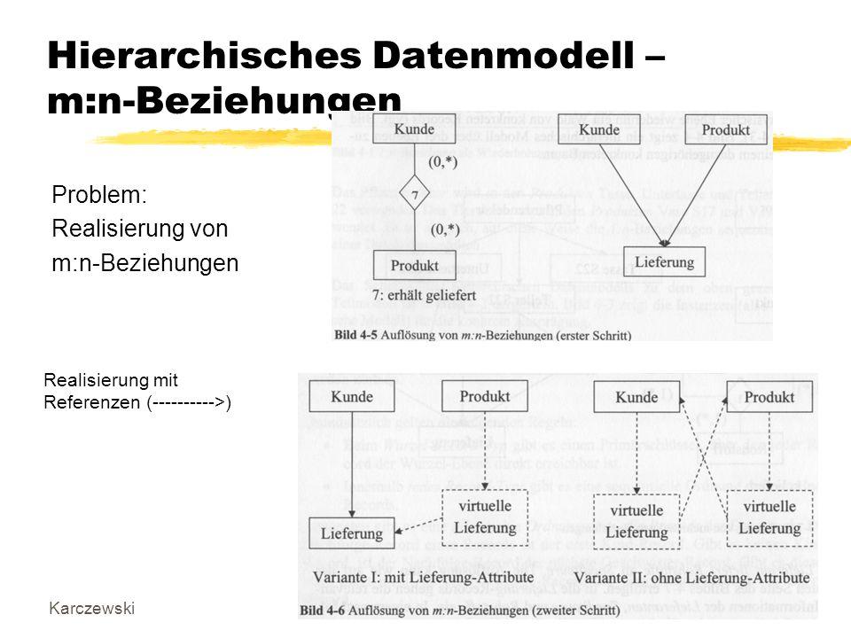 Hierarchisches Datenmodell – m:n-Beziehungen