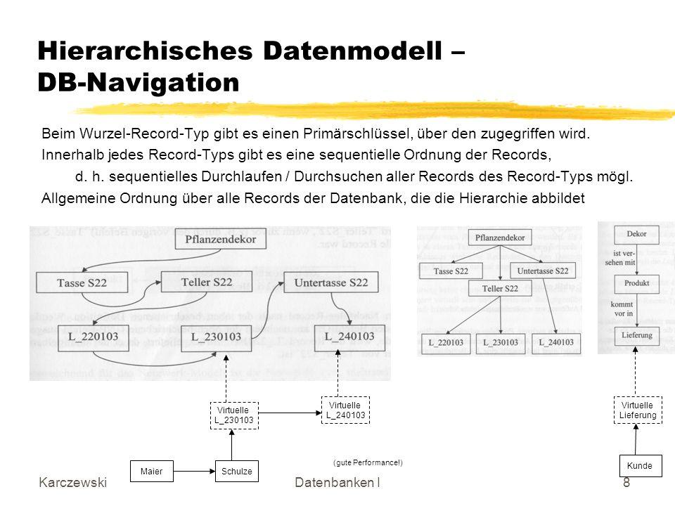 Hierarchisches Datenmodell – DB-Navigation