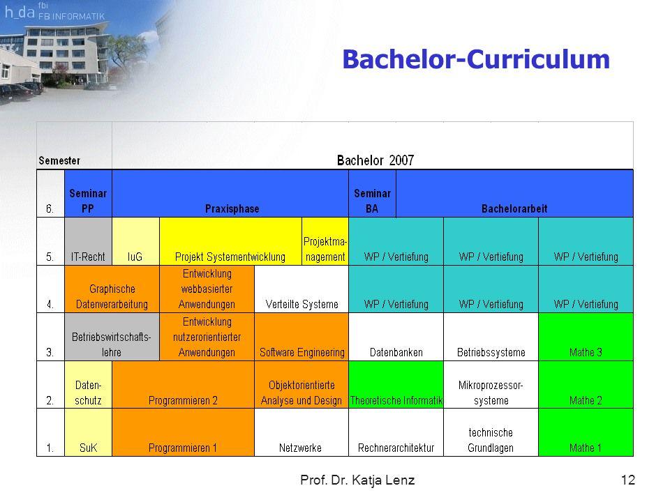Bachelor-Curriculum Prof. Dr. Katja Lenz