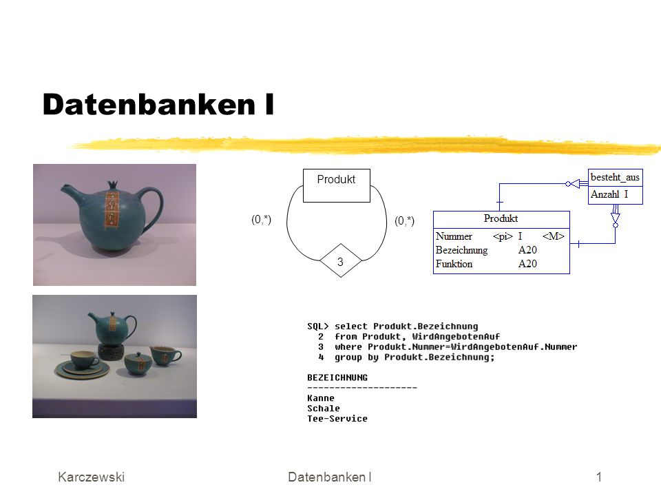 Datenbanken I (0,*) Produkt 3 Karczewski Datenbanken I