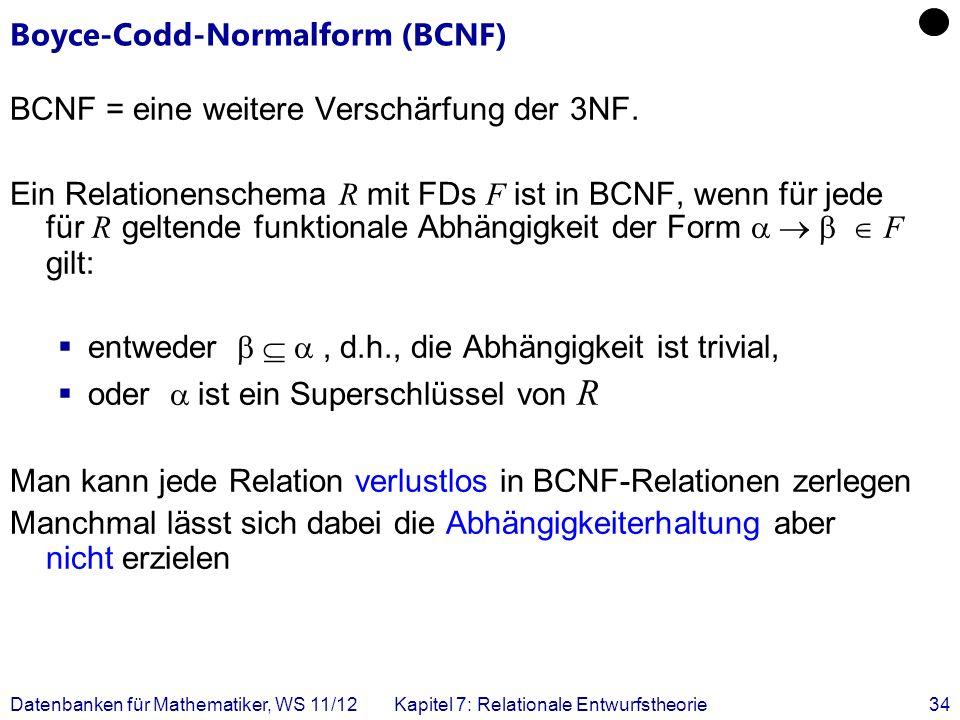 Boyce-Codd-Normalform (BCNF)